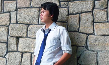 Nguyễn Vĩnh Trung - thành viên Câu lạc bộ Thư họa Việt - Đại học Quốc gia TP HCM. Ảnh nhân vật cung cấp