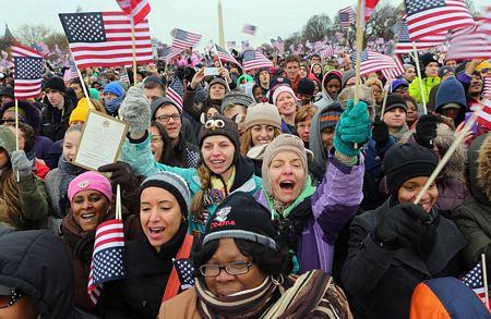 Những hình ảnh đẹp nhất trong lễ nhậm chức của Obama