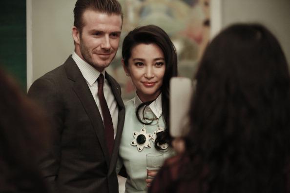 Beckham tay trong tay với Lý Băng Băng
