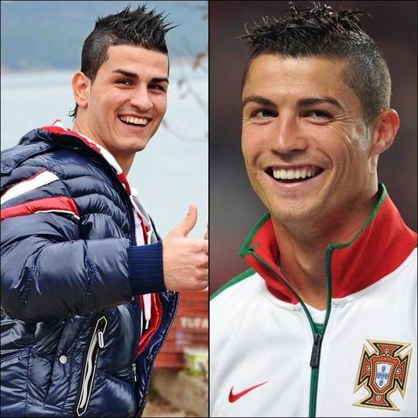 Hậu trường - Phát cuồng vì cầu thủ giống Ronaldo như hai giọt nước