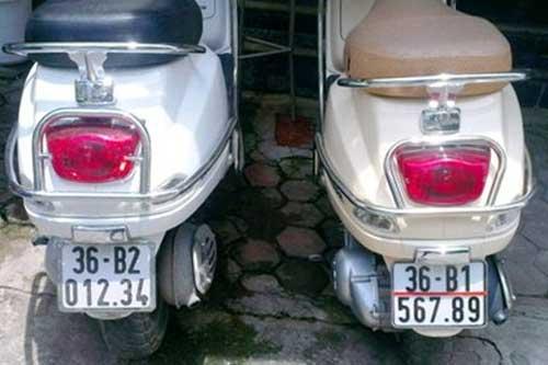 Ô tô-Xe máy - Cặp Vespa biển 'khủng' Thanh Hóa