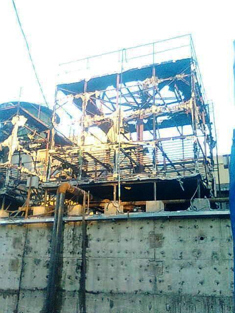 Cháy lớn tại khu sản xuất gang thép Hòa Phát