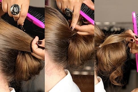 Hình ảnh Cách làm cực dễ để có tóc búi quyến rũ số 5