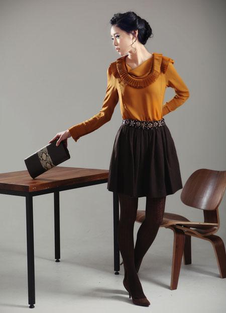 Hình ảnh Mặc váy xòe xếp ly thật đẹp! số 1