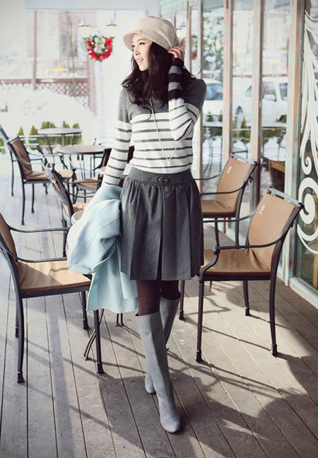 Hình ảnh Mặc váy xòe xếp ly thật đẹp! số 10
