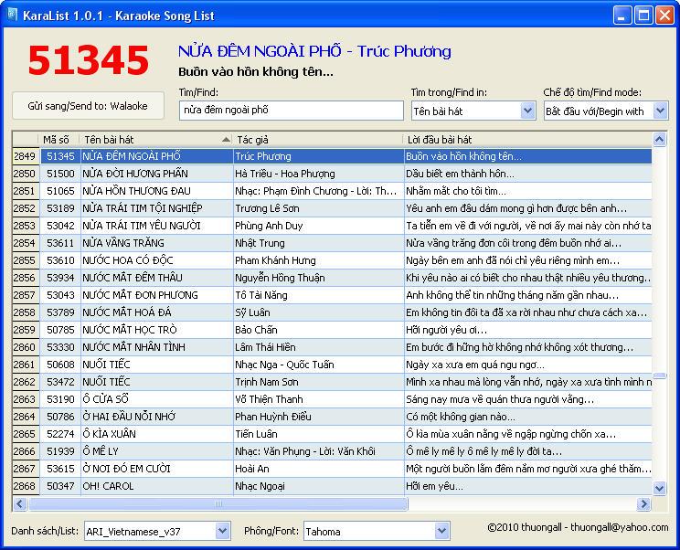 Hình ảnh KaraList: Tra cứu mã số 22.000 bài Karaoke số 1