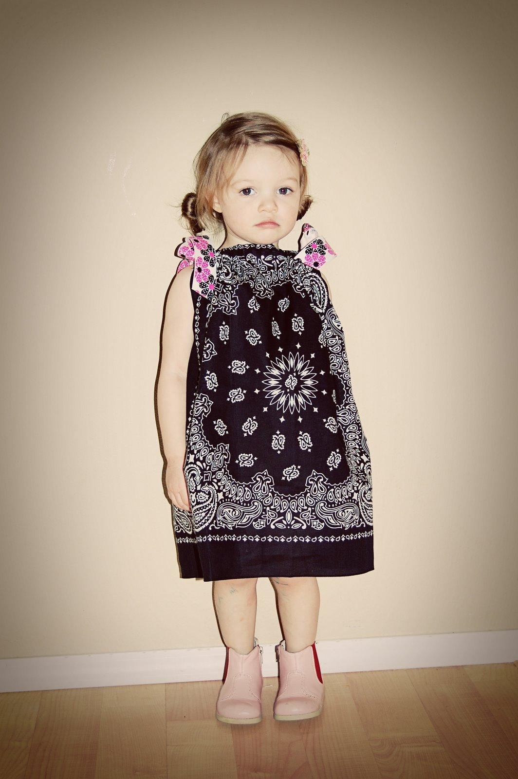 Детское платье из платка своими руками