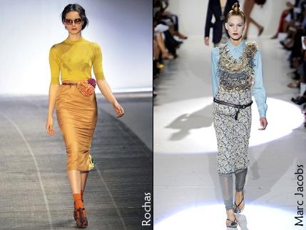 Hình ảnh Những mẫu váy lửng hấp dẫn nhất mùa thu đông 2010 số 2