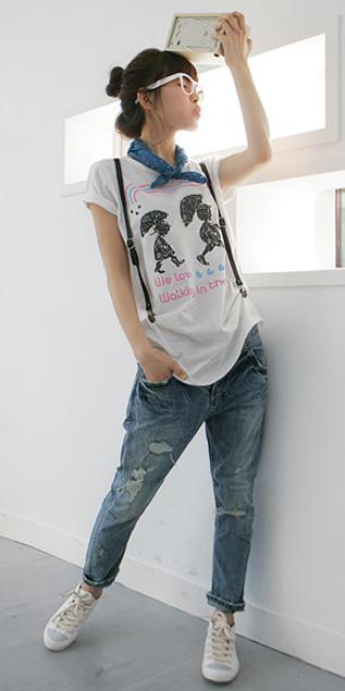 Hình ảnh Cách phối đồ năng động với quần jeans số 19