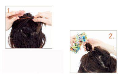 Hình ảnh 3 cách cột cao cho mái tóc số 2