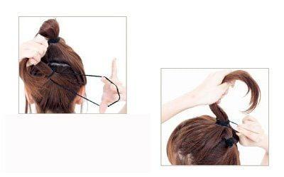 Hình ảnh 3 cách cột cao cho mái tóc số 4