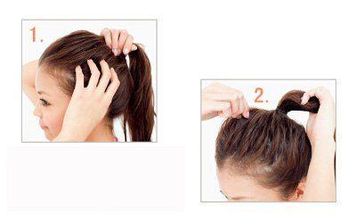 Hình ảnh 3 cách cột cao cho mái tóc số 7