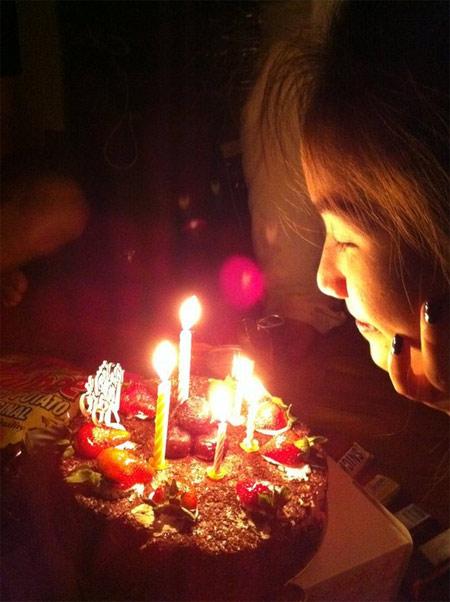 Hình ảnh Bảo Thy đón sinh nhật 24 tại Singapore số 1