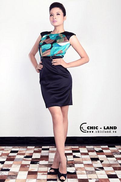 Hình ảnh Váy đầm Chic-Land phong cách đơn giản số 1