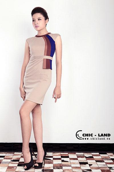 Hình ảnh Váy đầm Chic-Land phong cách đơn giản số 8