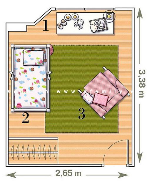 План схема комнаты сверху