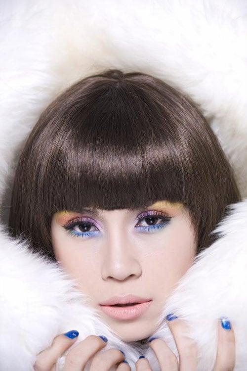 Hình ảnh Để tóc mái ngố đẹp như Sao Việt số 24