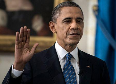 Hình ảnh Tổng thống Obama tuyên thệ nhậm chức số 5