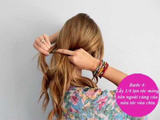 Hình ảnh 9 bước để có tóc tết xương cá xinh xắn số 6