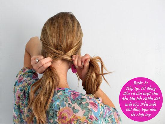Hình ảnh 9 bước để có tóc tết xương cá xinh xắn số 10