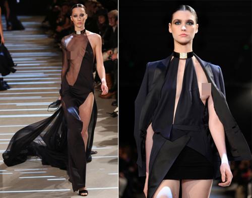 Hình ảnh Những pha lộ ngực gây sốc trên catwalk số 1