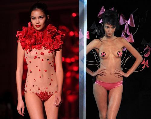 Hình ảnh Những pha lộ ngực gây sốc trên catwalk số 6