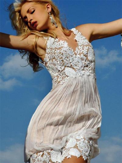 Hình ảnh Kiều nữ quyến rũ với váy ren trắng số 19
