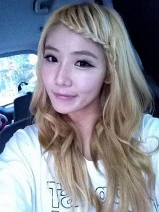 Hình ảnh Sao Hàn điệu đà với tóc tết mái số 9