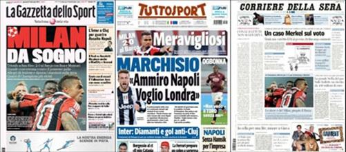 """Báo giới Italia """"nổ tung trời"""" sau chiến thắng của AC Milan"""