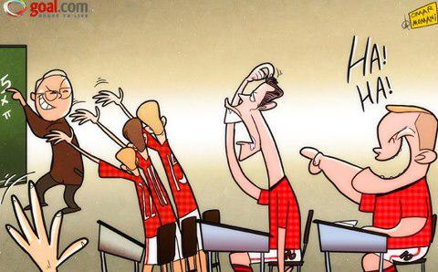 Ảnh biếm họa: Rooney chê Van Persie khờ khạo