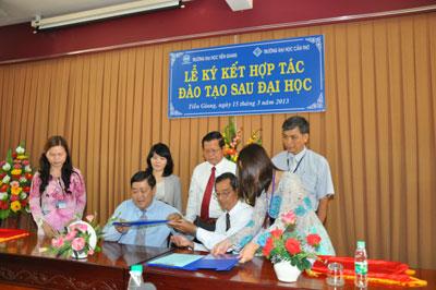 Hình ảnh Trường Đại học Tiền Giang và Đại học Cần Thơ hợp tác đào tạo - nghiên cứu số 1