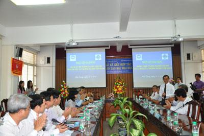 Hình ảnh Trường Đại học Tiền Giang và Đại học Cần Thơ hợp tác đào tạo - nghiên cứu số 2