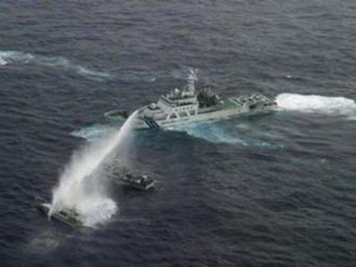 Hình ảnh Nhật công bố video đụng độ tàu Trung Quốc ở Senkaku số 1