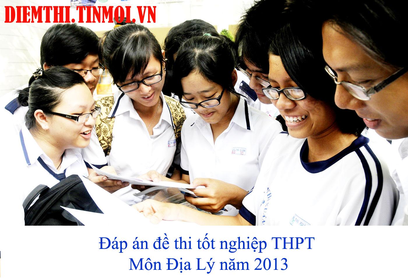 Hình ảnh Đề thi tốt nghiệp THPT môn Địa lý năm 2013 số 2
