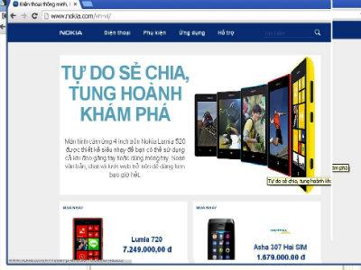 Hình ảnh Website tuyển dụng của Nokia tắc nghẽn số 1