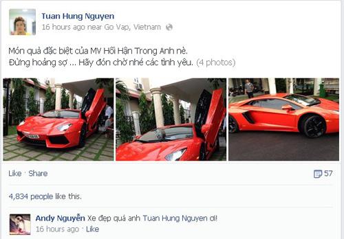 Siêu xe Lamborghini Aventador của ca sĩ Tuấn Hưng - Ảnh 1
