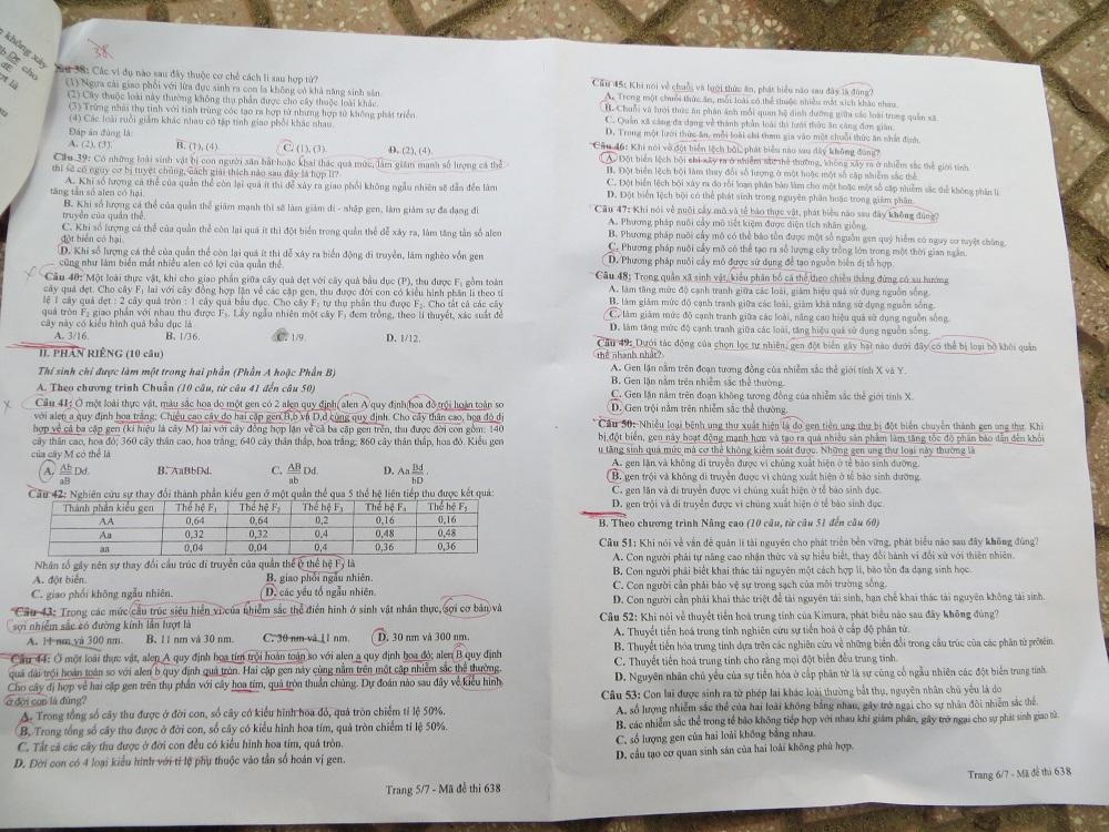 Hình ảnh Đáp án đề thi Đại Học môn Sinh khối B năm 2013 - Đã có đáp án chính thức của Bộ GD & ĐT số 9
