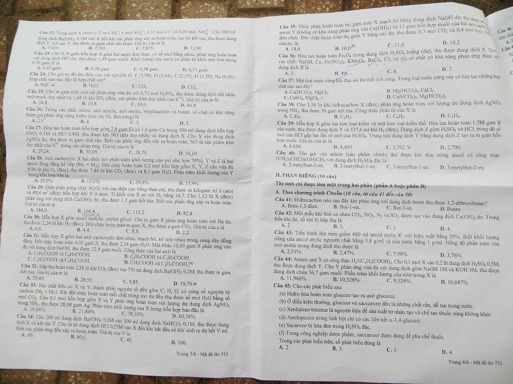 Hình ảnh Đáp án đề thi Đại Học môn Hóa khối B năm 2013 - Đã có đáp án chính thức của Bộ GD & ĐT số 10