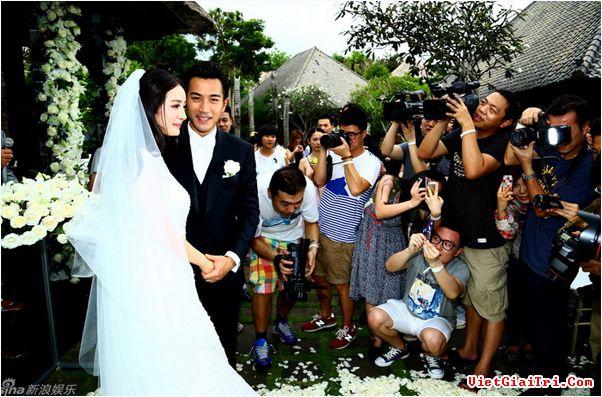 Khoảnh khắc đẹp trong hôn lễ Dương Mịch 8