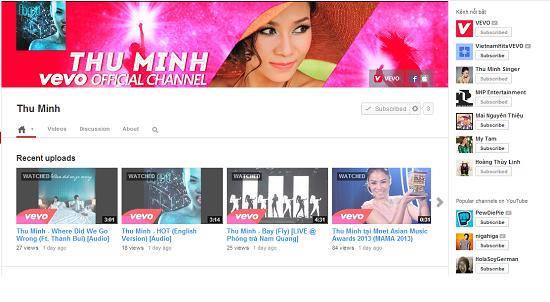 Thu Minh sở hữu kênh VEVO riêng đầu tiên ở showbiz Việt  6