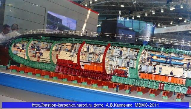 Sơ đồ cấu tạo tàu ngầm Kilo 8