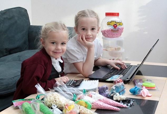 Chị em bé 4 tuổi trở thành doanh nhân trẻ nhất nước Anh nhờ… buôn kẹo 4