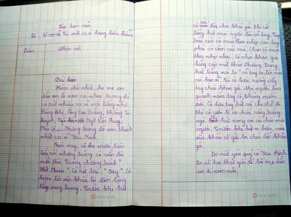 Bài văn tả ca sĩ Thu Minh của bé tiểu học