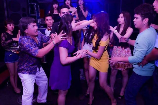 Xôn xao ảnh diễn viên trẻ Hồ Bích Trâm đánh nhau trong bar 8