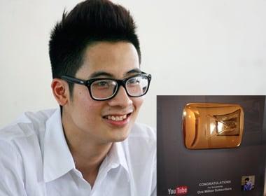 Hút 1,3 triệu người theo dõi, 9X Trần Đức Việt nhận giải từ Youtube 5