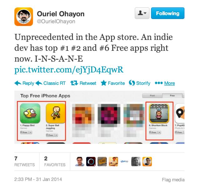 Hình ảnh Flappy Bird : Chim Việt bay lên đầu làng game di động toàn cầu số 1
