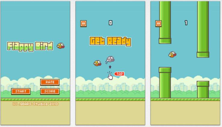 Hình ảnh Flappy Bird : Chim Việt bay lên đầu làng game di động toàn cầu số 2