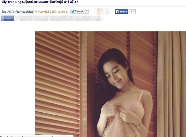 Báo Thái Lan hết lời khen ngợi loạt ảnh gợi cảm của Elly Trần  6