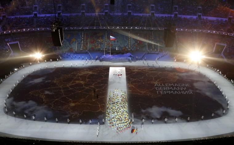 Những hình ảnh tuyệt mỹ trong lễ khai mạc Olympic Sochi 2014 13
