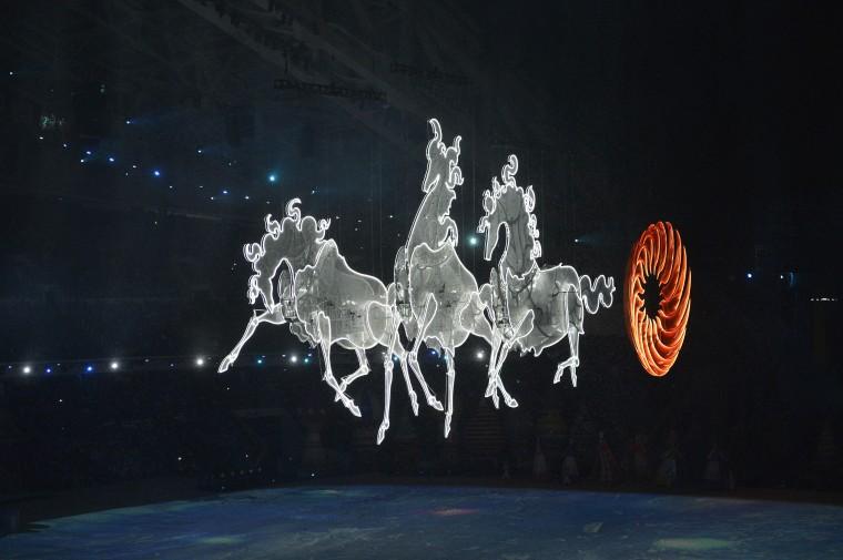 Những hình ảnh tuyệt mỹ trong lễ khai mạc Olympic Sochi 2014 14